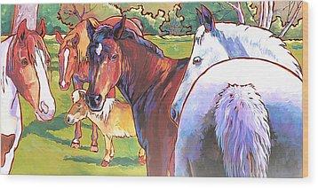 Anjelica Huston's Horses Wood Print by Nadi Spencer