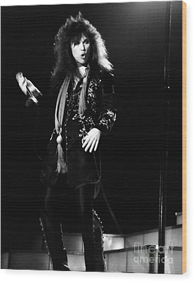 Wood Print featuring the photograph Ann Wilson Of Heart 1978 by Chris Walter