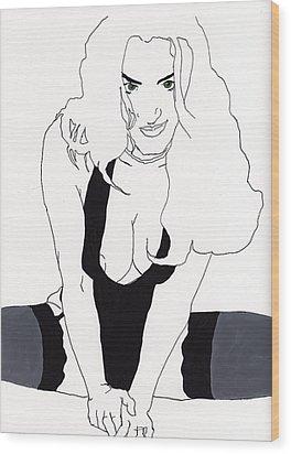 Anna-black Stockings Wood Print