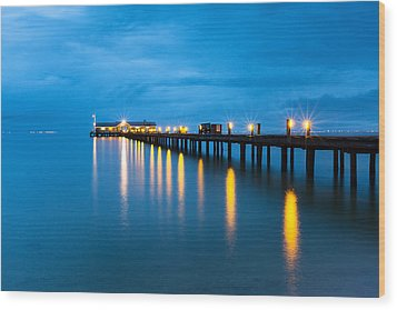 Wood Print featuring the photograph Anna Maria City Pier by Patrick Downey