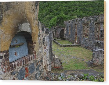 Wood Print featuring the photograph Annaberg Sugar Mill Ruins At U.s. Virgin Islands National Park by Jetson Nguyen