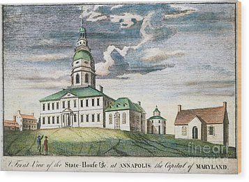 Annapolis, Maryland, 1786 Wood Print by Granger