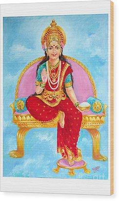Annapurna Devi Wood Print by Kalpana Talpade Ranadive