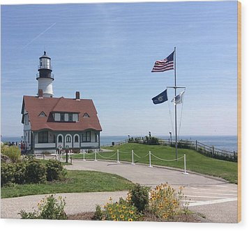 Portland Lighthouse ----- Edit Wood Print