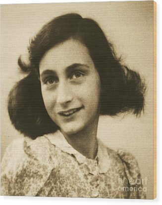 Anne Frank Wood Print by Roberto Prusso