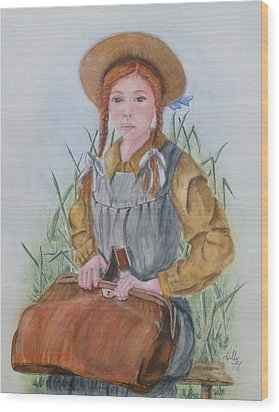 Anne Of Green Gables Wood Print by Kelly Mills