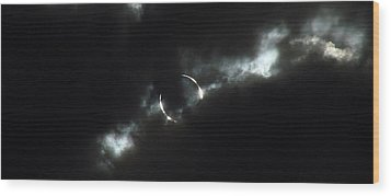 Annular Eclipse Ring Of Fire 2012 Wood Print by Scott McGuire