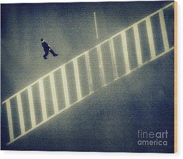 Anonymity Wood Print by Dana DiPasquale