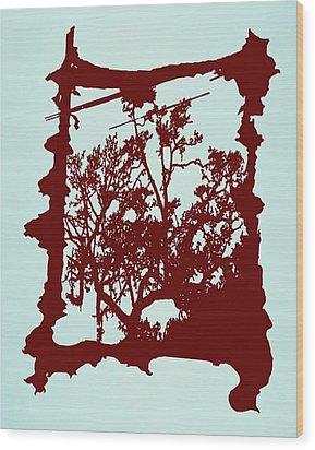 Another Creepy Tree Wood Print by Kristin Sharpe