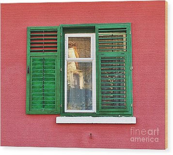Another Green Shutter Wood Print
