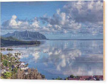 Another Kaneohe Morning Wood Print by Dan McManus