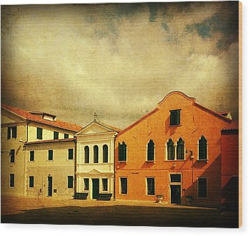 Wood Print featuring the photograph Another Malamocco Day by Anne Kotan