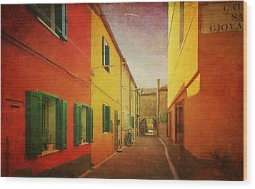 Wood Print featuring the photograph Another Morning In Malamocco by Anne Kotan