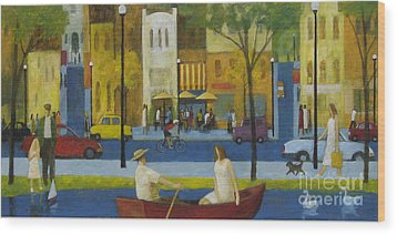 Wood Print featuring the painting Another Perfect Day by Glenn Quist