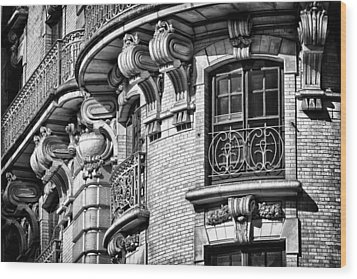Ansonia Building Detail 36 Wood Print by Val Black Russian Tourchin