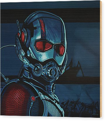 Ant Man Painting Wood Print