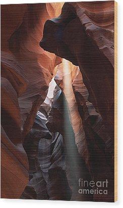 Antelope Canyon At Noon Wood Print
