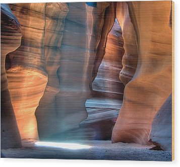 Antelope Canyon Wood Print