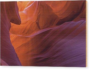 Antelope Canyon Fire Wood Print