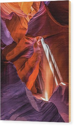 Antelope Canyon Lightshaft 3 Wood Print