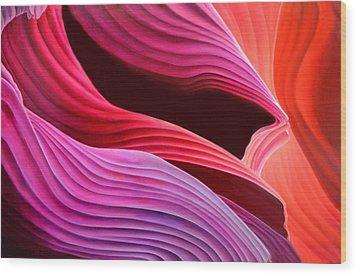 Antelope Waves Wood Print by Anni Adkins