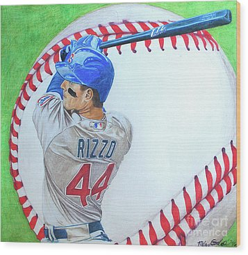 Anthony Rizzo 2016 Wood Print