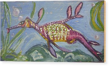 Anthropomorphic Sea Dragon 2 Wood Print by Michelley QueenofQueens