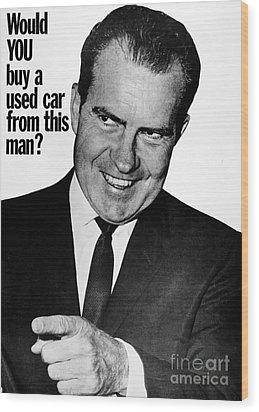 Anti-nixon Poster, 1960 Wood Print by Granger