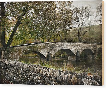 Burnside's Bridge Over Antietam Creek Wood Print