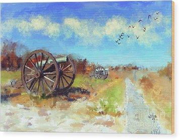 Wood Print featuring the digital art Antietam Under Blue Skies  by Lois Bryan