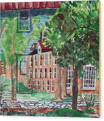 Antioch Yellow Springs Ohio Mural Wood Print by Mindy Newman