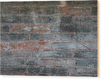 Wood Print featuring the photograph Antique Brick Wall by Elena Elisseeva