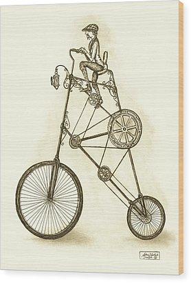 Antique Contraption Wood Print by Adam Zebediah Joseph