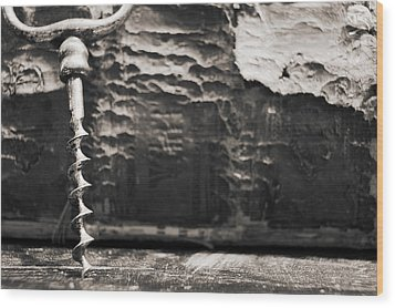 Wood Print featuring the photograph Antique Corkscrew. by Andrey  Godyaykin