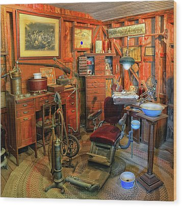 Antique Dental Office Wood Print