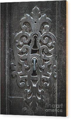 Wood Print featuring the photograph Antique Door Lock by Elena Elisseeva