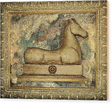 Antique Equine Wood Print by Carol Peck