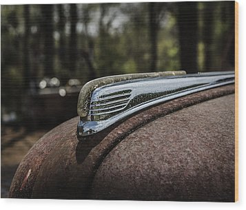 Wood Print featuring the photograph Antique Hood Ornament by Kim Hojnacki
