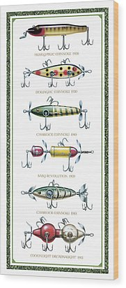 Antique Lure Panel Wood Print by JQ Licensing