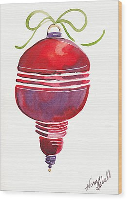 Antique Ornament In Red Wood Print by Michele Hollister - for Nancy Asbell