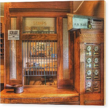 Antique Post Office At The General Store -  Wood Print by Lee Dos Santos