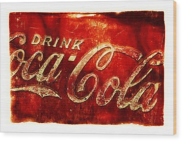 Antique Soda Cooler 2a Wood Print by Stephen Anderson