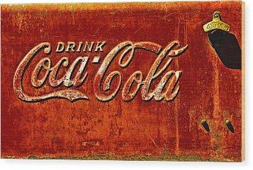 Antique Soda Cooler 3 Wood Print