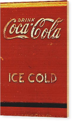 Antique Soda Cooler 6 Wood Print by Stephen Anderson