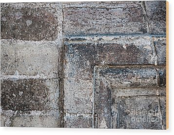 Wood Print featuring the photograph Antique Stone Wall Detail by Elena Elisseeva