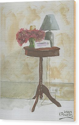 Antique Table Wood Print by Ken Powers