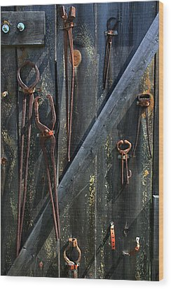 Wood Print featuring the photograph Antique Tools by Joanne Coyle