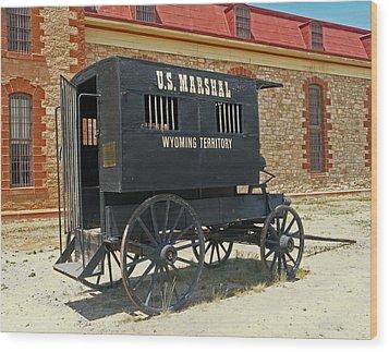 Antique U.s Marshalls Wagon Wood Print by Sally Weigand