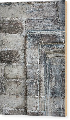 Wood Print featuring the photograph Antique Wall Detail by Elena Elisseeva