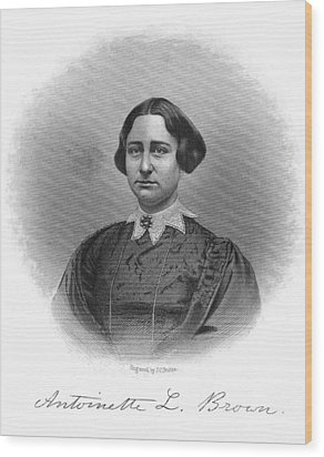 Antoinette Brown Blackwell Wood Print by Granger